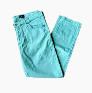 Mint green AG Prima crop skinny jeans size 31